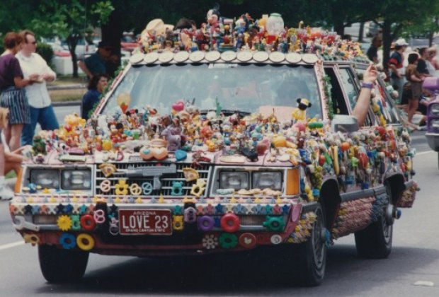Funky vehicles abound at the Art Car Parade
