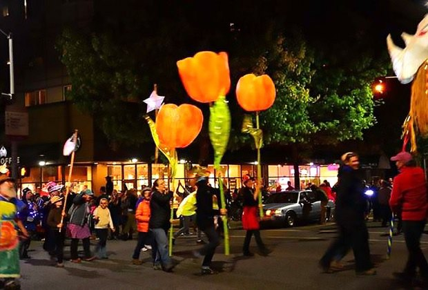 Celebrate the first day of spring in Millennium Park with the Arts in the Dark Lantern Procession. Photo courtesy of Luma8