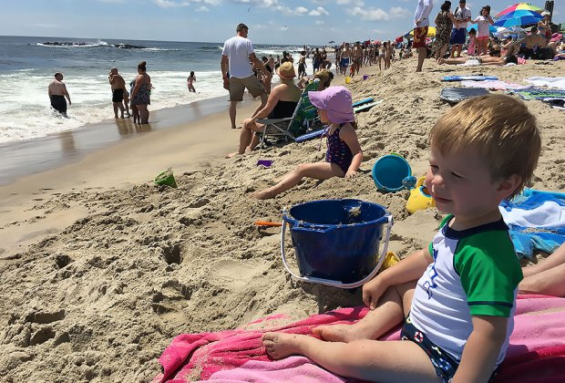 Asbury Park Beach is a popular family destination. Photo by Rose Gordon Sala