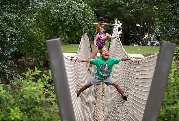 Expore the Children's Garden at Atlanta Botanic Gardens. Photo courtesy of the gardens