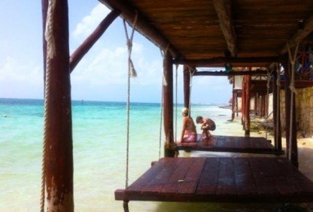 Gorgeous beach swings at Azul Beach Hotel, Cancun