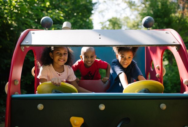 Philly playgrounds and parks to keep cool in the shade. Photo from Smith Memorial Playground.