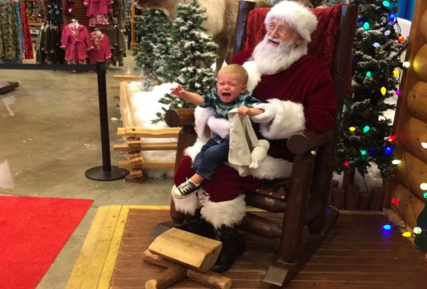 Head to Santa's Wonderland at Bass Pro Shop for pictures with Santa and holiday fun. Crying kids optional./Photo courtesy of Rachael Cherry.