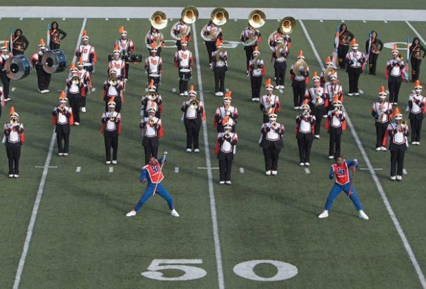 Watch area marching bands compete at the annual MLK Battle of the Bands./Photo courtesy of MLK Grande Parade.