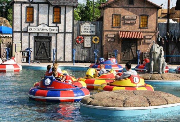 Bayville Adventure Park's water bumper cars