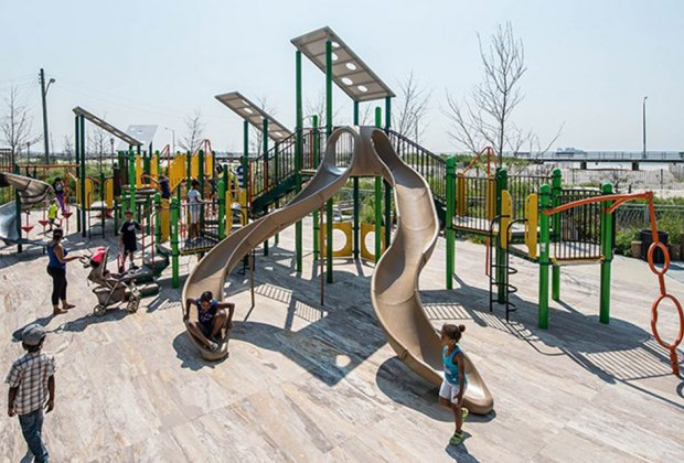 Rockaway's Beach 30th Street Playground is steps from the beach