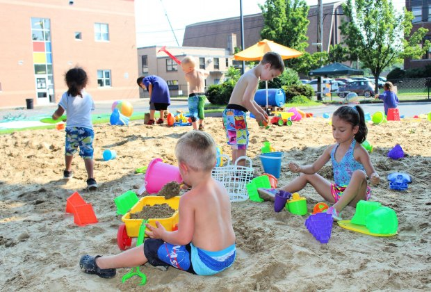 23 tons of sand creates Beach in the City. Photo courtesy of Imagine Nation