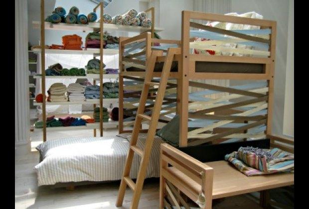 All-natural beechwood bunk bed