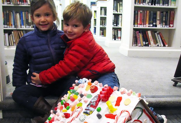 Build a candy house at the Bedford Library. Photo courtesy of the library