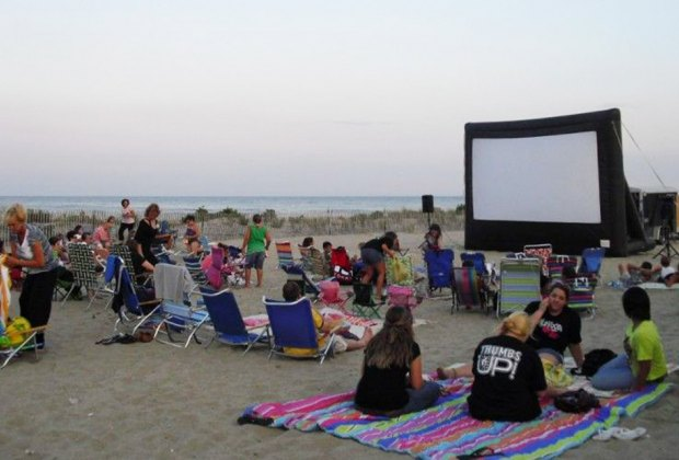 Catch Cars 3, Coco, and more at Belmar Movies on the Beach. Photo courtesy of the venue