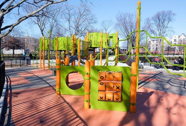 Bensonhurst Park Playground climbing structure