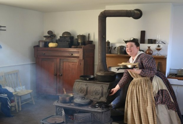 Leave modern conveniences behind and step back in time at Old Bathpage Village Restoration to see how baking was done in the late-19th century. Photo courtesy of Old Bethpage Village Restoration