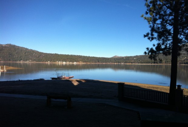 And a perfect morning view of the lake