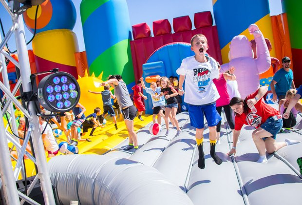 The Big Bounce America lands in Brooklyn this weekend.