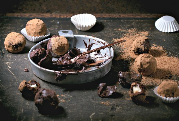 Make your perfect chocolate truffle. Photo via Bigstock