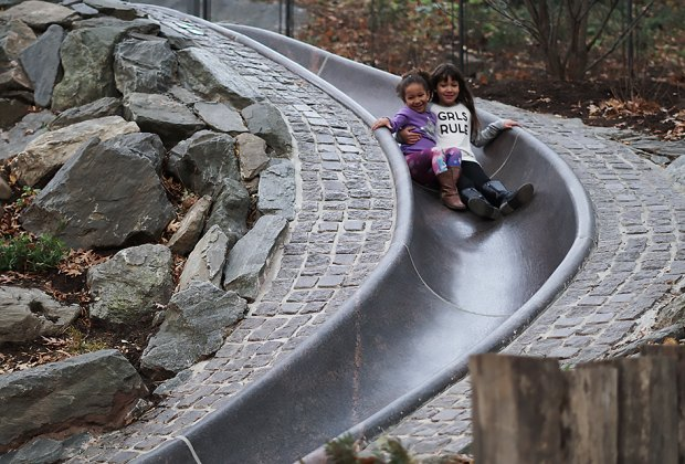 Billy Johnson Playground has an epic granite slide