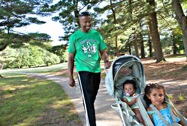 Strolling at Francis William Bird Park. Photo by J.Beller courtesy of The Trustees