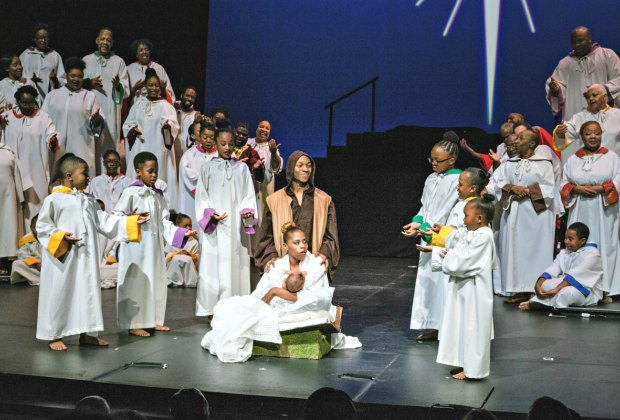 A scene from Black Nativity. Photo by Edgar Troncoso