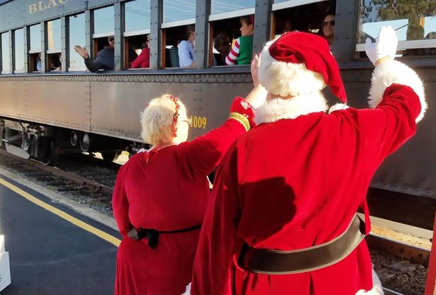 Visit Santa on the North Pole Express. Photo courtesy of Black River & Western Railroad