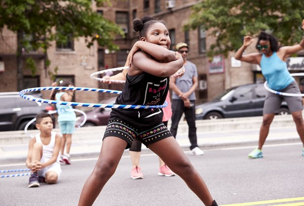 Boogie on the Boulevard is an annual celebration of art, active living, and public space in the Bronx.  Photo courtesy of the event