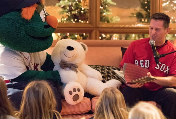 Local celebrities are on hand to read to guests at Four Seasons' Teddy Bear Tea. Photo courtesy of the Four Seasons