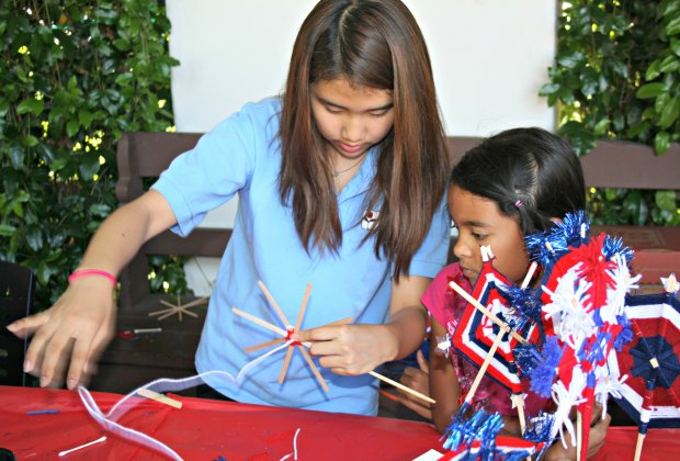 Bowers' Family Days has demonstrations where kids can get crafty -- remember weaving God's Eyes? Photo courtesy of the Bowers Museum