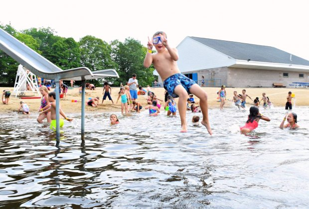 There's always splashy fun to be had at Woodtick Rec's beach. Photo courtesy of Boys & Girls Club of Bristol Family Center
