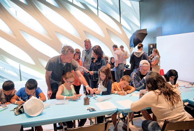 Broad Museum Family Weekend Workshop. Photo courtesy of Broad Museum