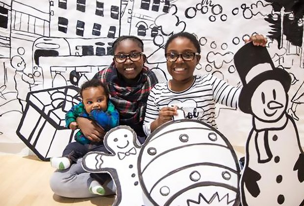 Celebrate the holiday season at The Bronx Museum of the Arts. Photo courtesy of the museum