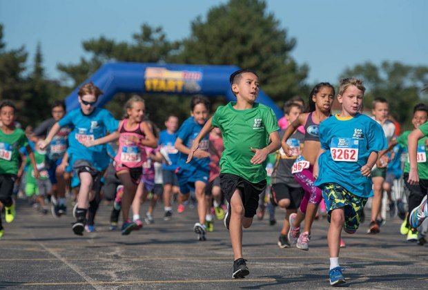 Brookfield Zoo's ZooRunRun for the Animal Care and Conservation Fund on Sunday, September 9, features a 1-mile Kids Dash for children ages 4-13. Photo courtesy  of the Chicago Zoological Society