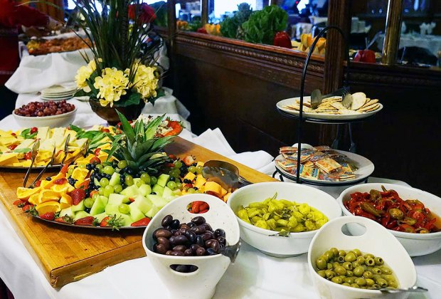 Pantagis Farms offers a gorgeous brunch spread.