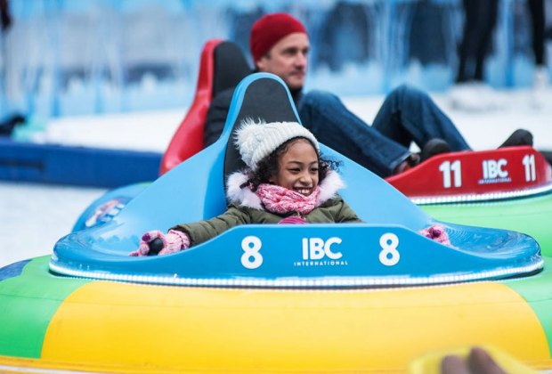 Families are invited to stop by Bank of America Winter Village during the week of February 18 – 22 and participate in free skating, arts, and movement programming each day! Photo by Jane Kratochvil for Bryant Park