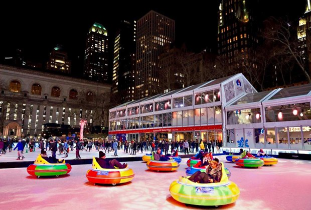 Bundle up, embrace the chill, and check out the annual Winter Carnival at Bank of America Winter Village. Photo by Angelito Jusay for Bryant Park