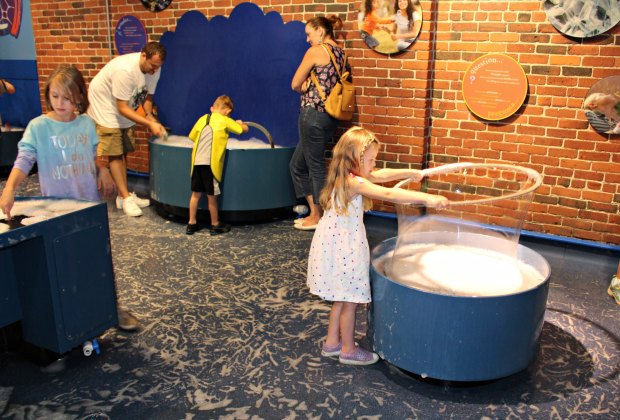 Just try to pull kids away from the bubbles in Science Playground .