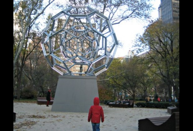Leo Villareal's BUCKYBALL looks cool during the day....