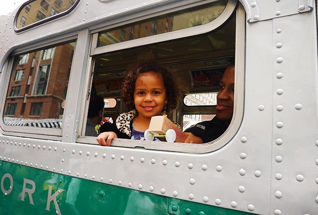 All aboard the Transit Museum's vintage buses at October's Bus Festival. Photo courtesy of the museum