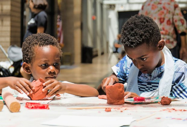CAAM hosts Family Maker Fest. Photo courtesy of California African American Museum