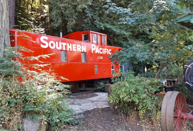 California Vacation Home Rentals for Families: Sleep in a caboose.