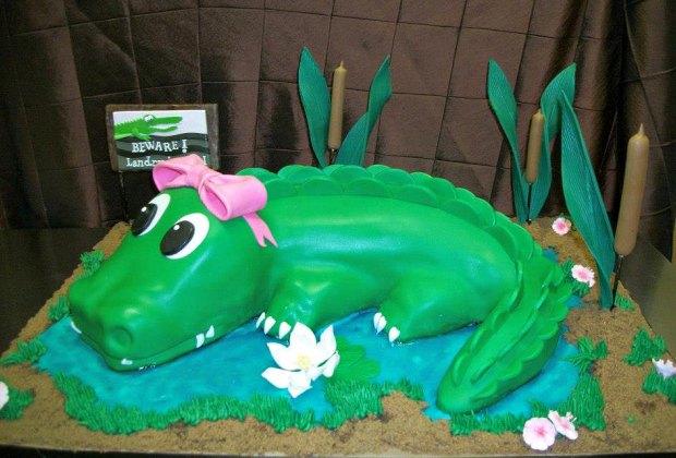 Gator Birthday Cake Cakes by Gina
