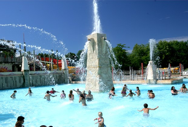 The 100,000-gallon Calypso Springs is Hurricane Harbor's largest expansion since 2000.