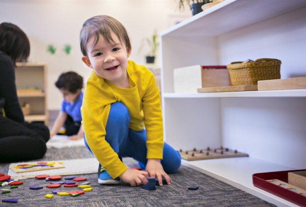 Preschoolers can stay just for the morning or for a full day at Cambridge Montessori. Photo courtesy of Cambridge Montessori School