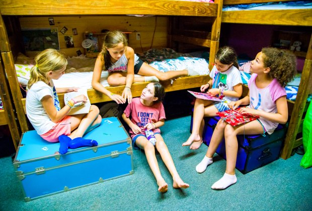 Campers bond over bunk life at Camp Chinqueka. Photo courtesy of the camp