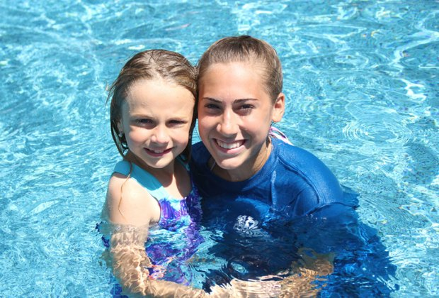 Campers take part in daily swim lessons at Camp Harbor.