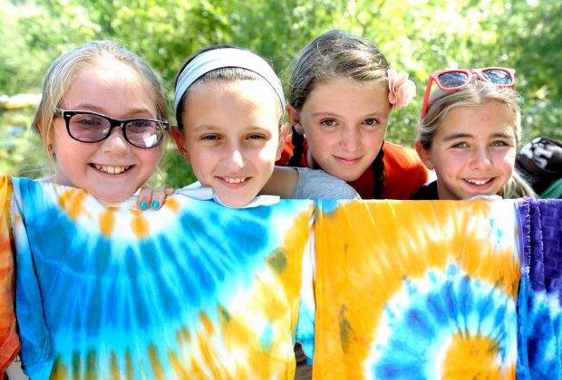 Tie dye at Camp Keystone