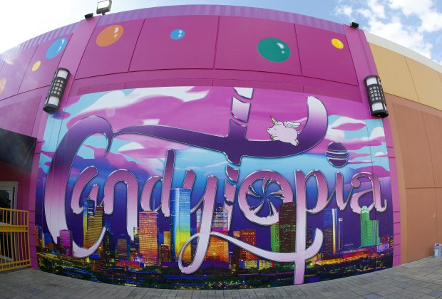 Candytopia Houston is set up in a temporary location at the MARQ*E Entertainment Center in West Houston.