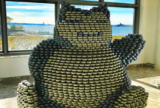 Come out to see Canstruction at Brookfield Place. Photo by Janet Bloom