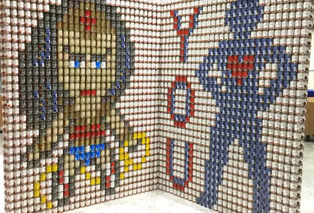 Come see Canstruction and support the Interfaith Nutrition Network on Long Island. Photo courtesy of Canstruction