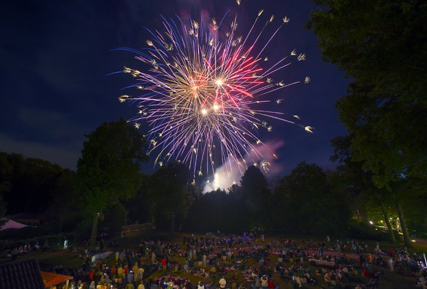 Music and fireworks make for a fun summer night at Caramoor's Pops, Patriots, and Fireworks. Photo by Gabe Palacio