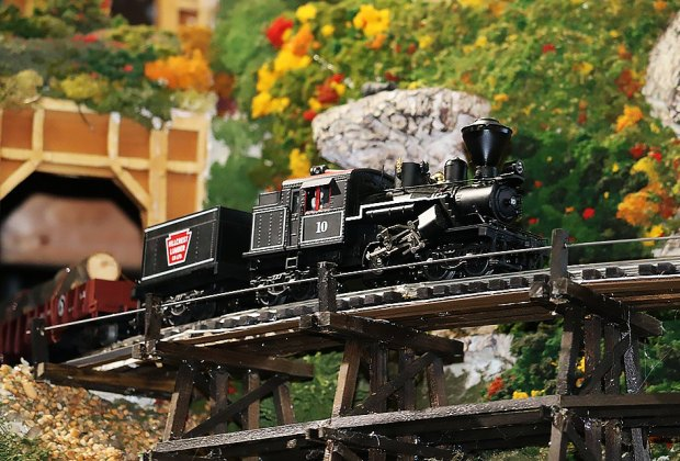 Channel your inner train lover at the TMB model train exhibit. Photo courtesy of the TMB Model Train Club