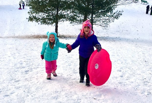 Enjoy some old-fashioned winter fun on Long Island's sledding hills